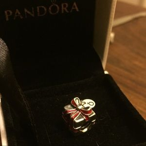 Pandora Sterling Silver Red Gift Box Charm